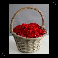 Strooi mandje rode rozen